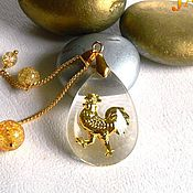 Украшения handmade. Livemaster - original item Rooster Zolotoy Petushok pendant.. Handmade.
