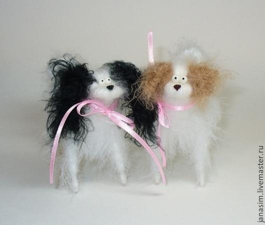 Игрушки животные, ручной работы. Ярмарка Мастеров - ручная работа. Купить Японский хин. Handmade. Собака, пушистик