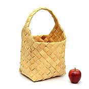 Для дома и интерьера handmade. Livemaster - original item Basket braided birch bark decorative. Handmade.