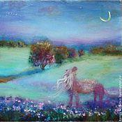 """Картины и панно ручной работы. Ярмарка Мастеров - ручная работа """"Все девочки мечтают"""" картина из шерсти. Handmade."""
