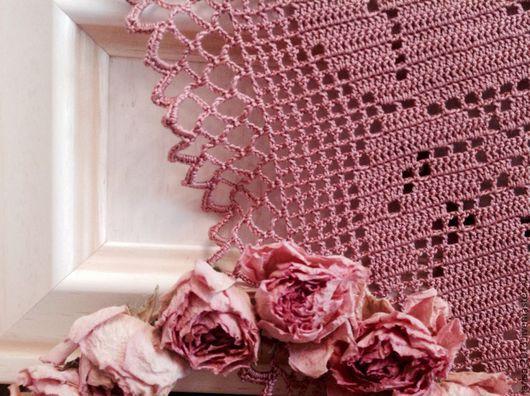 Текстиль, ковры ручной работы. Ярмарка Мастеров - ручная работа. Купить Салфетка-дорожка с розами. Handmade. Салфетка крючком