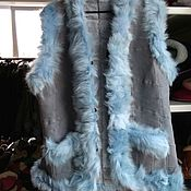 Одежда handmade. Livemaster - original item Vest made of sheepskin with a fringe from Tuscany. Handmade.