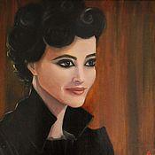 Картины ручной работы. Ярмарка Мастеров - ручная работа Мисс Перегрин (Ева Грин), портрет. Handmade.