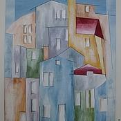 Картины и панно ручной работы. Ярмарка Мастеров - ручная работа Картина Светлый город. Handmade.