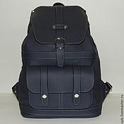 """Синий кожаный рюкзак """"Лазурит"""""""