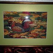 Картины и панно ручной работы. Ярмарка Мастеров - ручная работа Мандаринка-вышивка крестиком. Handmade.