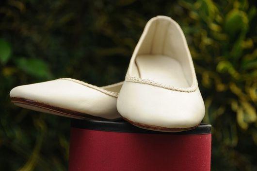 Обувь ручной работы. Ярмарка Мастеров - ручная работа. Купить Aise+. Балетки женские кожаные для дома, офиса, прогулок. Handmade.