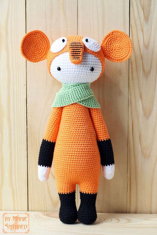 Игрушки животные, ручной работы. Ярмарка Мастеров - ручная работа. Купить Lalylala Апельсиновый слон. Handmade. Оранжевый, lalylala