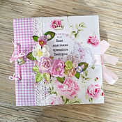 Канцелярские товары handmade. Livemaster - original item Photo album with memo for baby girl