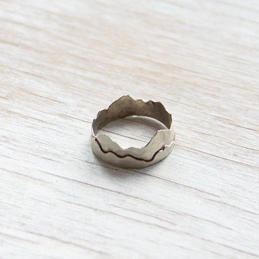 """Кольца ручной работы. Ярмарка Мастеров - ручная работа. Купить Кольцо из нейзильбера """"Горы"""". Handmade. Купить кольцо, украшение бижутерия"""