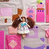 Куклы и игрушки ручной работы. Ярмарка Мастеров - ручная работа Сумка-домик,домик-сумка игровой,игровая кукла с домиком.. Handmade.