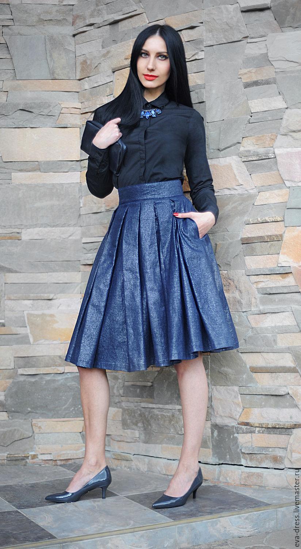 Купить пышную юбка до колен