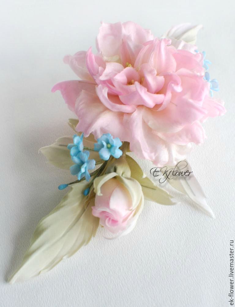 Handmade fabric flowers flowers healthy the wedding accessories handmade fabric flowers silk flowers the song pink watercolor mightylinksfo
