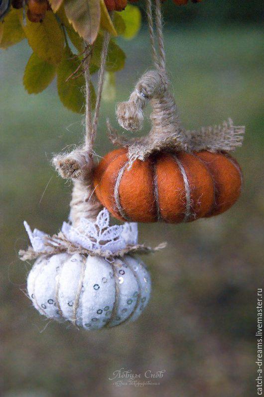 Подарки на Хэллоуин ручной работы. Ярмарка Мастеров - ручная работа. Купить Хеллоуинские тыквы. Handmade. Разноцветный, декоративные тыквы