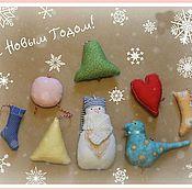 Подарки к праздникам ручной работы. Ярмарка Мастеров - ручная работа Новогодний набор игрушек. Handmade.