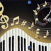 Для дома и интерьера ручной работы. Ярмарка Мастеров - ручная работа Часы  Музыка. Handmade.