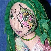 Куклы и игрушки ручной работы. Ярмарка Мастеров - ручная работа Лесная нимфа. Тектильная шарнирная кукла. Handmade.