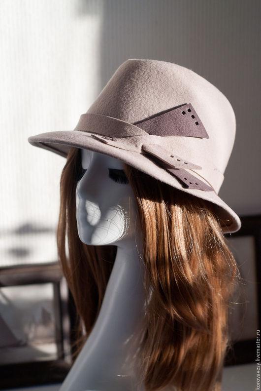 """Шляпы ручной работы. Ярмарка Мастеров - ручная работа. Купить """"12й кадр"""". Handmade. Бежевый, шляпа из фетра, кинематограф"""
