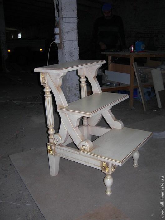 Мебель ручной работы. Ярмарка Мастеров - ручная работа. Купить Стремянка для библиотеки. Handmade. Белый, патина, стремянка, ясень