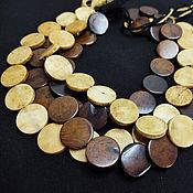 Материалы для творчества handmade. Livemaster - original item Beads Buffalo Bone Coin 20mm 2 types. Handmade.