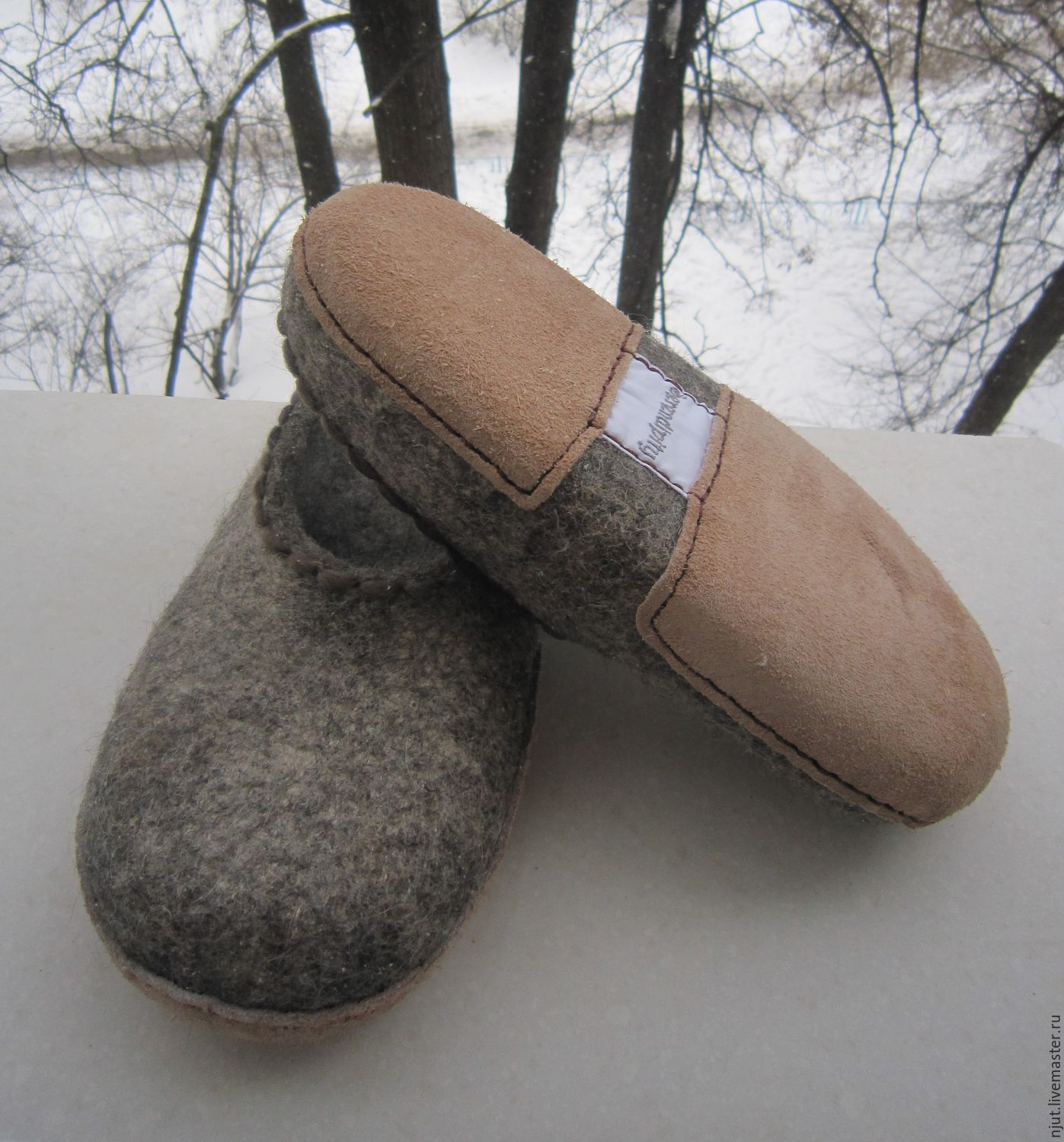 Felted Slippers, size 38
