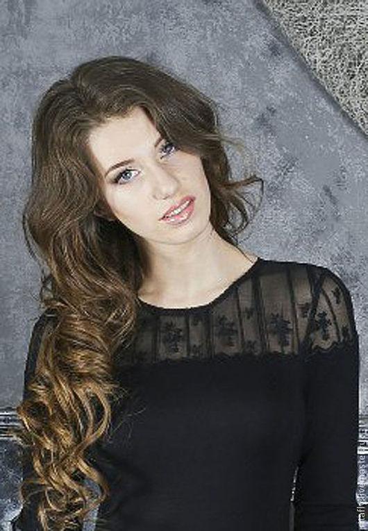 """Платья ручной работы. Ярмарка Мастеров - ручная работа. Купить платье с кружевом """"Black"""" 042. Handmade. Черный, черное платье"""