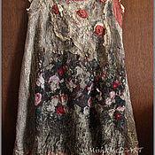Одежда ручной работы. Ярмарка Мастеров - ручная работа Бохо сарафан ,, Розовый сад,,. Handmade.