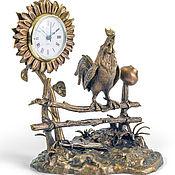 Для дома и интерьера ручной работы. Ярмарка Мастеров - ручная работа Подсолнух часы. Handmade.
