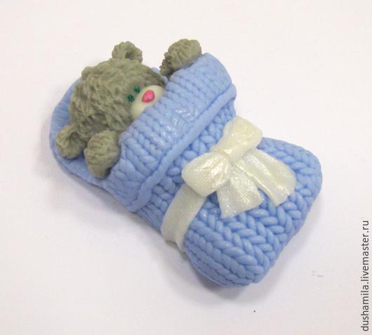 Мыло ручной работы. Ярмарка Мастеров - ручная работа. Купить Мыло Мишка  новорожденный. Handmade. Голубой, мыло мишка тедди