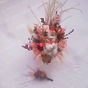 Цветы ручной работы. Ярмарка Мастеров - ручная работа Композиции из сухоцветов и стабилизированых цветов. Handmade.