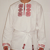 Русский стиль handmade. Livemaster - original item Russian embroidered shirt