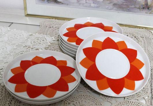 """Винтажная посуда. Ярмарка Мастеров - ручная работа. Купить Фарфоровые тарелочки, клеймо """"Thomas"""", Германия, 1970-е г.г.. Handmade."""