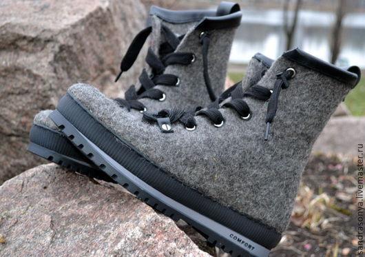 """Обувь ручной работы. Ярмарка Мастеров - ручная работа. Купить Ботинки валяные мужские """"Grand Canyon"""". Handmade. Ботинки валяные"""