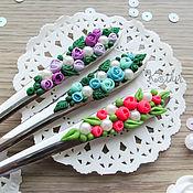 Посуда ручной работы. Ярмарка Мастеров - ручная работа Цветущая столовая ложка. Handmade.