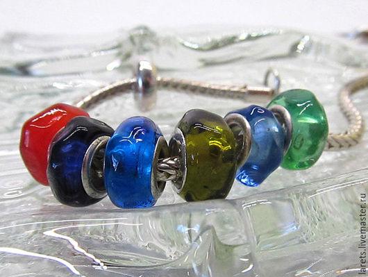 Для украшений ручной работы. Ярмарка Мастеров - ручная работа. Купить Леденцы Шармы (бусины) стеклянные в стиле Пандора. Handmade.