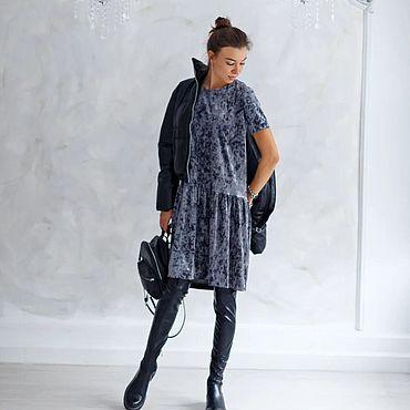 Одежда ручной работы. Ярмарка Мастеров - ручная работа Платье из бархата в широкой цветовой гамме. Handmade.