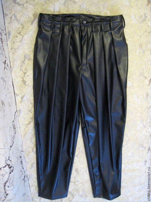 Брюки, шорты ручной работы. Ярмарка Мастеров - ручная работа. Купить Кожаные брюки. Handmade. Черный, кожаные брюки