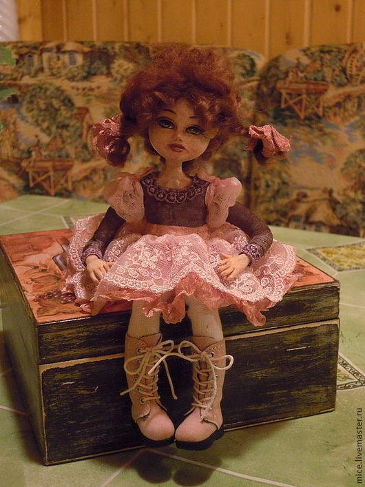 Коллекционные куклы ручной работы. Ярмарка Мастеров - ручная работа. Купить Лелька-карамелька (в частной коллекции). Handmade. Розовый