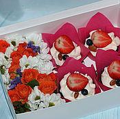 Подарки к праздникам ручной работы. Ярмарка Мастеров - ручная работа Коробка с цветами. Handmade.