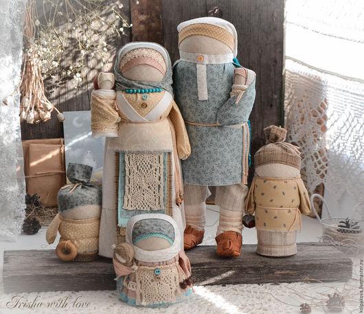 """Народные куклы ручной работы. Ярмарка Мастеров - ручная работа. Купить кукла-оберег Семья """"Белый день"""".. Handmade. Белый"""