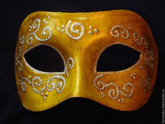 """Карнавальные костюмы ручной работы. Ярмарка Мастеров - ручная работа. Купить маска """"зимнее солнце"""" карнавальная. Handmade. Желтый, маскарад"""