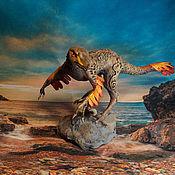"""Для дома и интерьера ручной работы. Ярмарка Мастеров - ручная работа Статуэтка """"Раптор"""" фигурка Динозавр dino raptor. Handmade."""