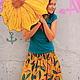 """Юбки ручной работы. Ярмарка Мастеров - ручная работа. Купить Юбка """"Арбузная"""". Handmade. Желтый, африканская ткань"""
