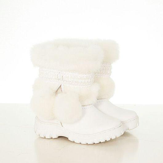 Обувь ручной работы. Ярмарка Мастеров - ручная работа. Купить Унты детские ( для девочек) уд34. Handmade. Обувь, овчина