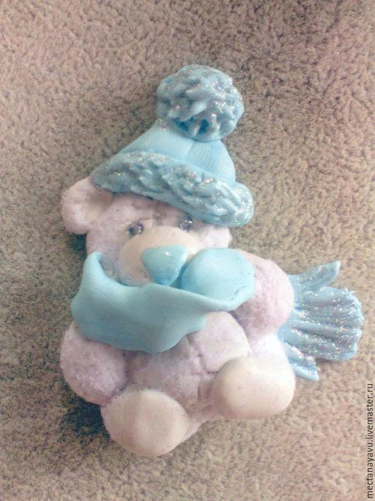 Броши ручной работы. Ярмарка Мастеров - ручная работа. Купить Брошь Мишка Тедди из полимерной глины ручная работа. Handmade.