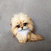 Куклы и игрушки handmade. Livemaster - original item Teddy Animals: Badger Kitten. Handmade.