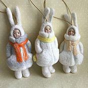 Куклы и игрушки ручной работы. Ярмарка Мастеров - ручная работа Детишки в шубках. Handmade.