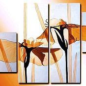 """Картины и панно ручной работы. Ярмарка Мастеров - ручная работа """" Солнечные цветы """". Handmade."""