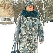 """Одежда ручной работы. Ярмарка Мастеров - ручная работа Зимнее пальто """" Зимние узоры """". Handmade."""