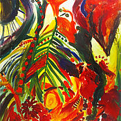 Картины и панно ручной работы. Ярмарка Мастеров - ручная работа Картина. Тропическая фантазия. Handmade.